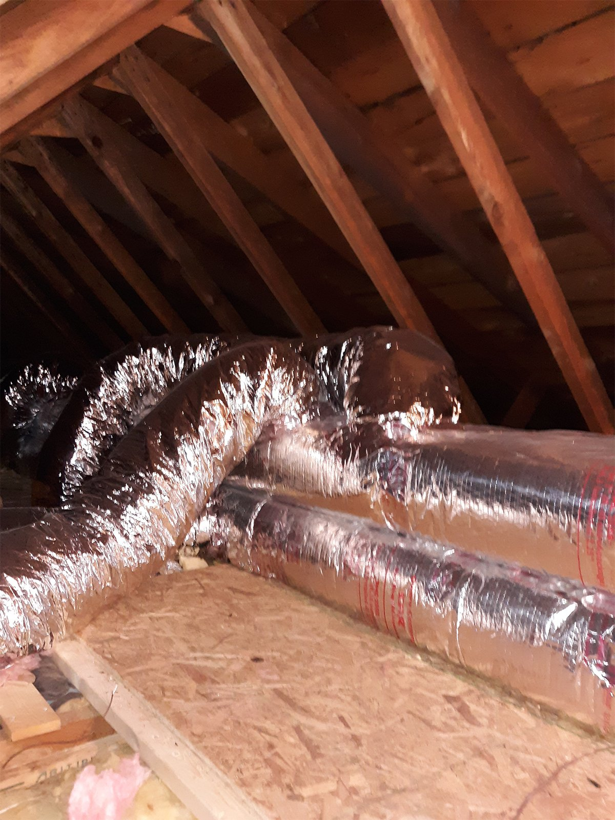 August, 2019, Cooksburg, PA — New Horizontal Furnace Installation + Ductwork