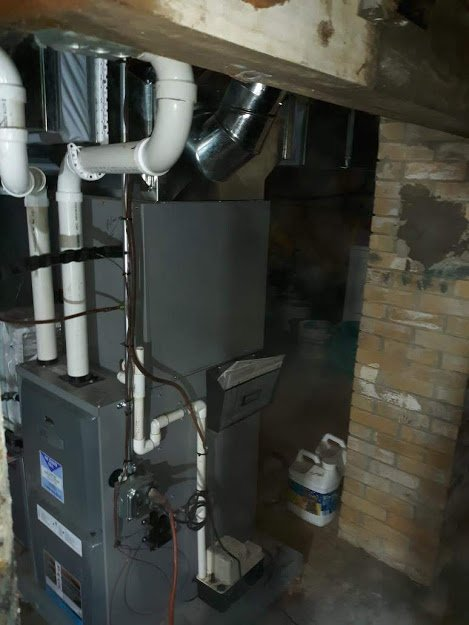 Just completed new installation in lovely Franklin, PA! New furnace and central air units, plus new duct work.