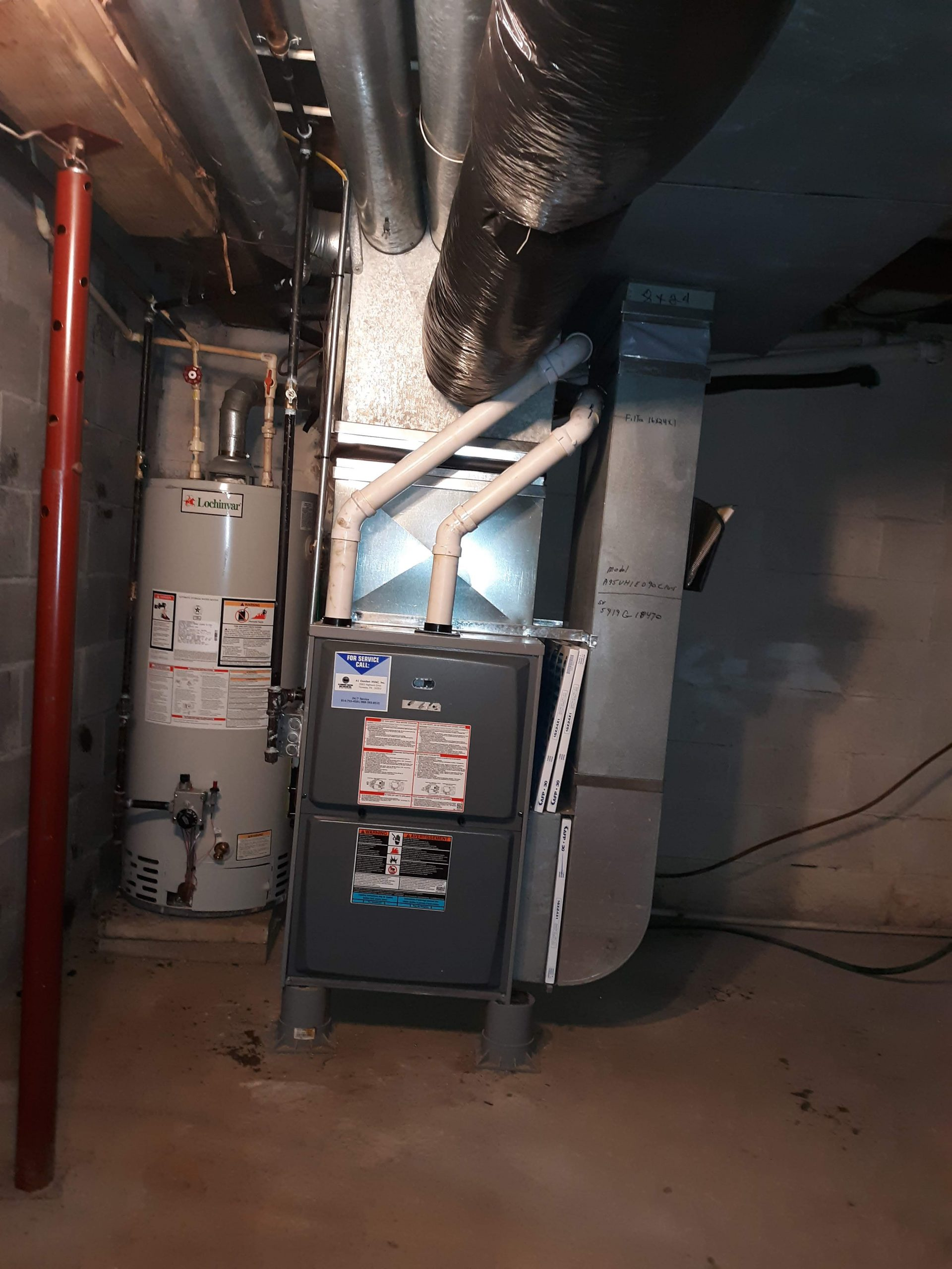 Marienville, PA 16239  Completed furnace replacement February, 2020