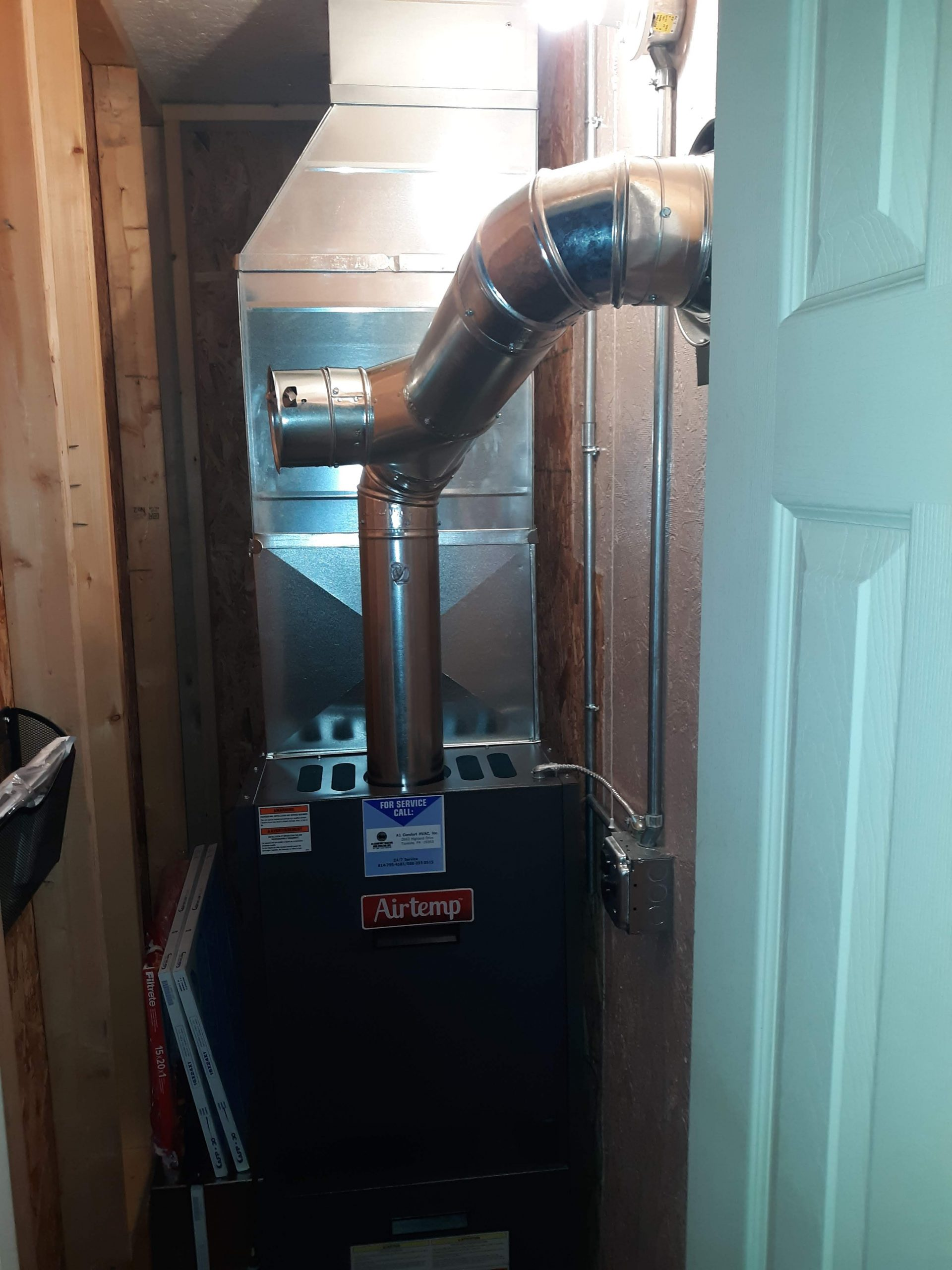 Tionesta, PA  16353 Completed furnace replacement February, 2020