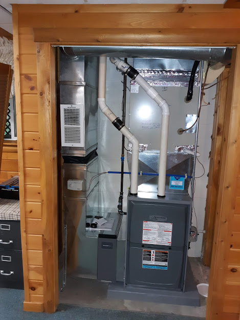 Supplied and Installed 8-25-2020  Tionesta, PA  16353 Supplied and Installed two Armstrong 96% EFF furnaces, 2-stage heating, Natural Gas, 88,000 BTU Input.