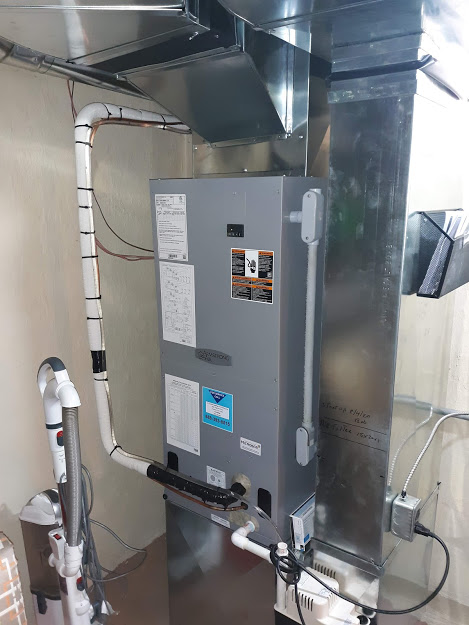 Tionesta, PA  16353   July, 2020 |    Installed Electric Heat 7.5 kw | Wired in new Air Handler and Electric Heat | Installed new Armstrong Air Conditioner Heat Pump Model 4SHP15LE118P-50 1 ½ ton | Installed heavy-duty high-rise plastic pad | Supplied and Installed Line Set | Supplied and Installed 60 amp disconnect | Supplied and Installed 6' Whip | Supplied and Installed sheet-metal duct work