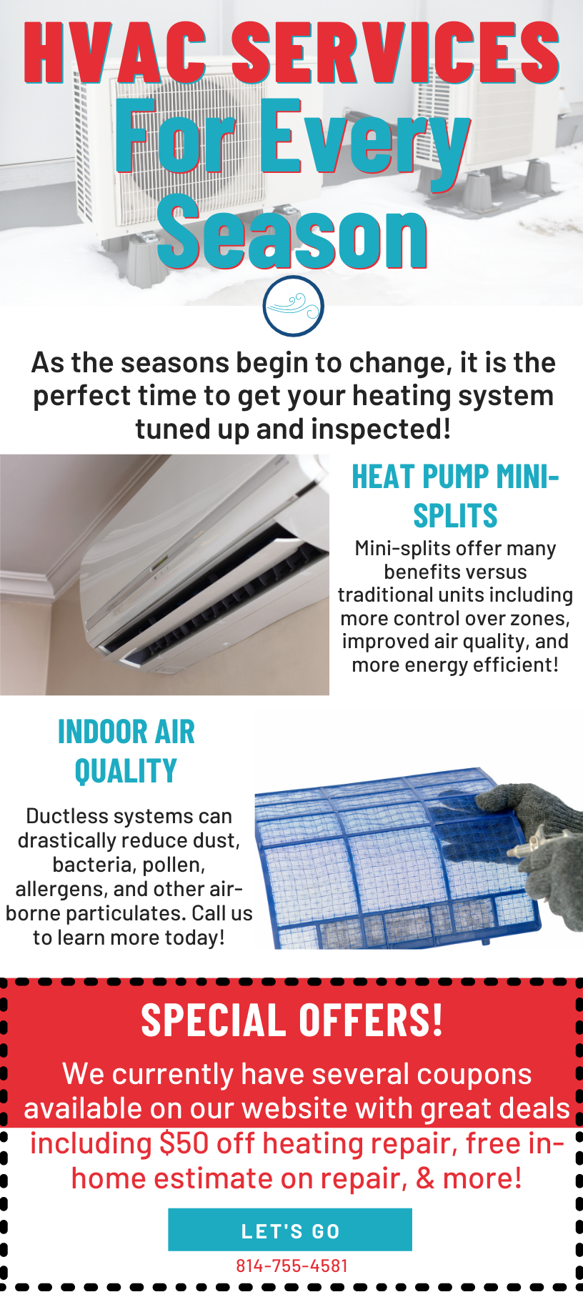 HVAC Services For Every Season! 💨 1