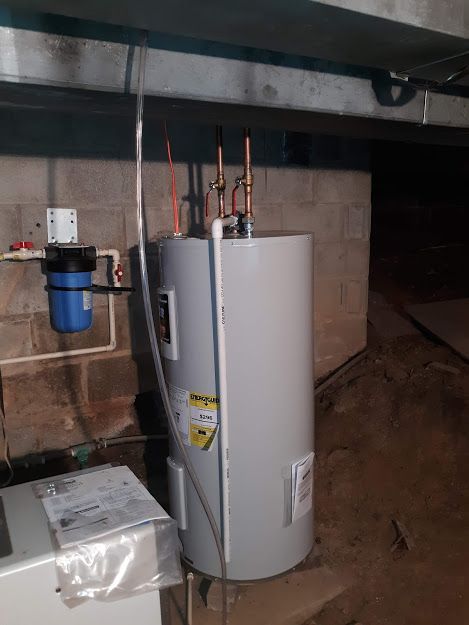 March, 2021 Bradford White 40-gallon electric water heater model Re340S6, Short One.