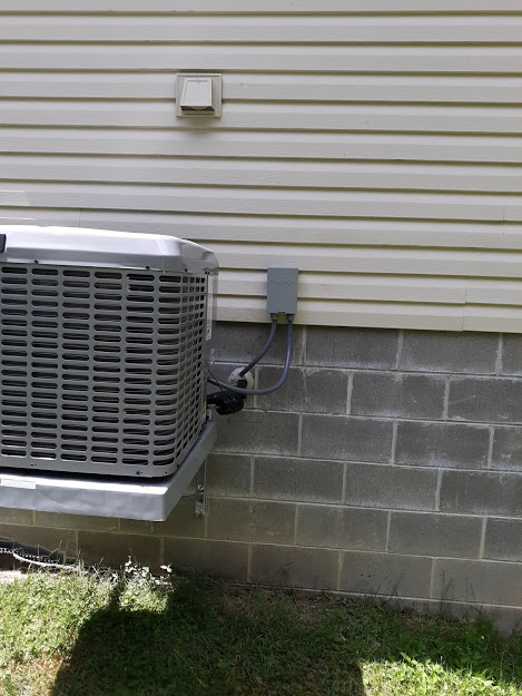 """June, 2021, Tidioute, PA  1635/supplied/installed ThermoPride Air Conditioner Model TC4B2422S, 2-ton, 14 SEER. Supplied and installed uncase a coil/Install line set/6' Whip/60 amp disconnect/ 32"""" x 32"""" x 3"""" heavy-duty plastic-pad/Wired in new system and completed start up and final inspection/ten-year manufacture warranty on parts and compressor."""
