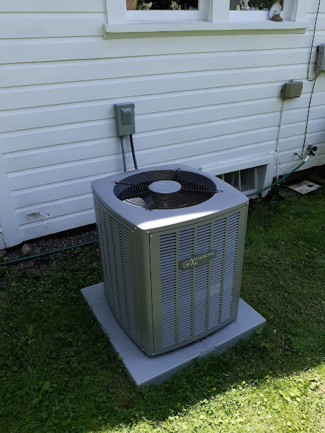 July, 2021, Tionesta, PA  16353  Installed Furnace, Ductwork, Air-Conditioner, Hot-water Tank.