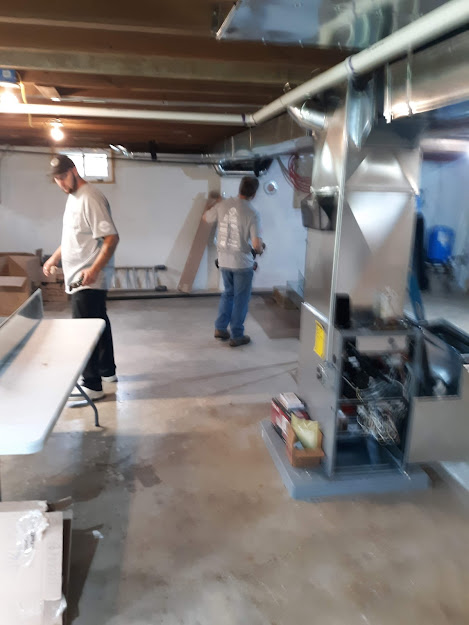 Installation Titusville, PA  16354 new ductwork and new furnace  August, 2021.