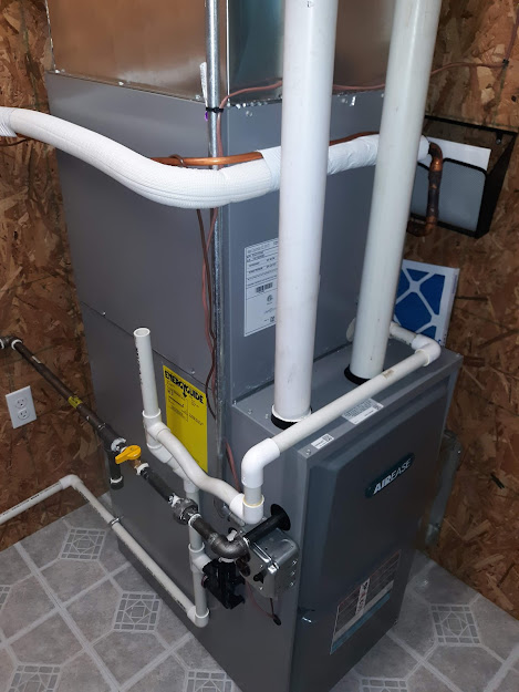New installation furnace and central air conditioning August, 2021, Tionesta, PA.