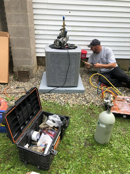 New Installation September, 2021  Tidioute, PA  Central Air-Conditioning (condenser outside unit)