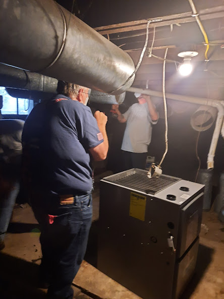 September, 2021. Severe Flooding in Titusville, PA.  Supplied and Installed horizontal furnace and ductwork off the floor as a preventive measure for future flooding in the basement.